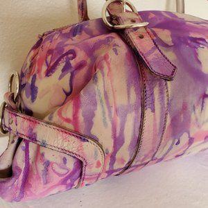 PRADA leather purse Beige tan bowling Bag vitello